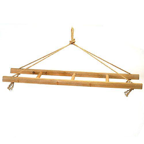 échelle présentoir en bois