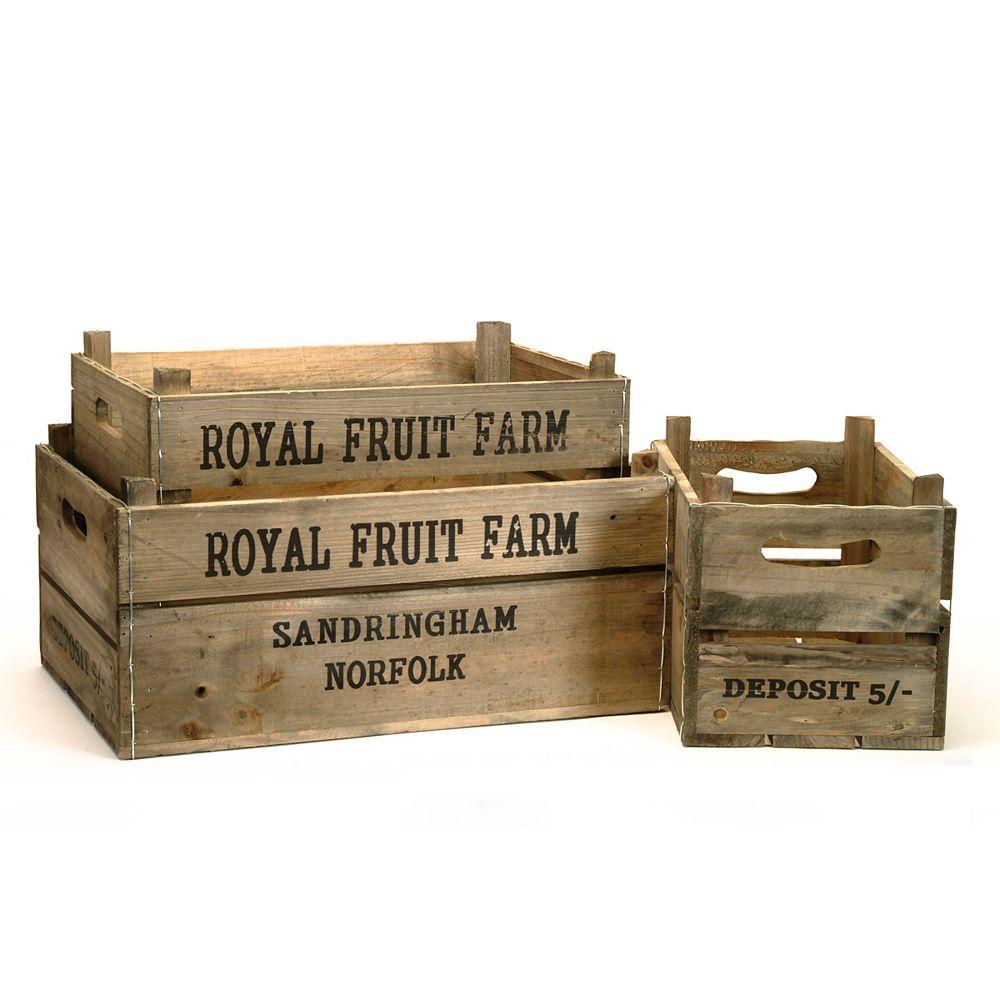 Wicker Bay ensemble de 3 boîte de pommes