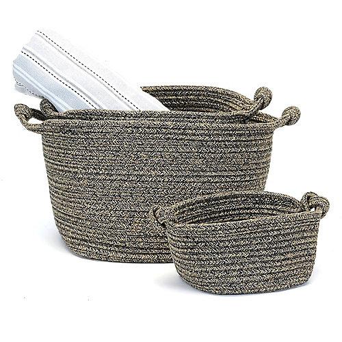 3 Piece Home Storage Basket Set
