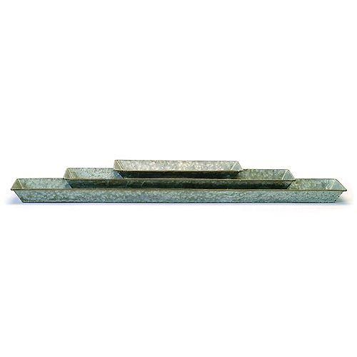 3 Piece Galvanized Steel Trough Set