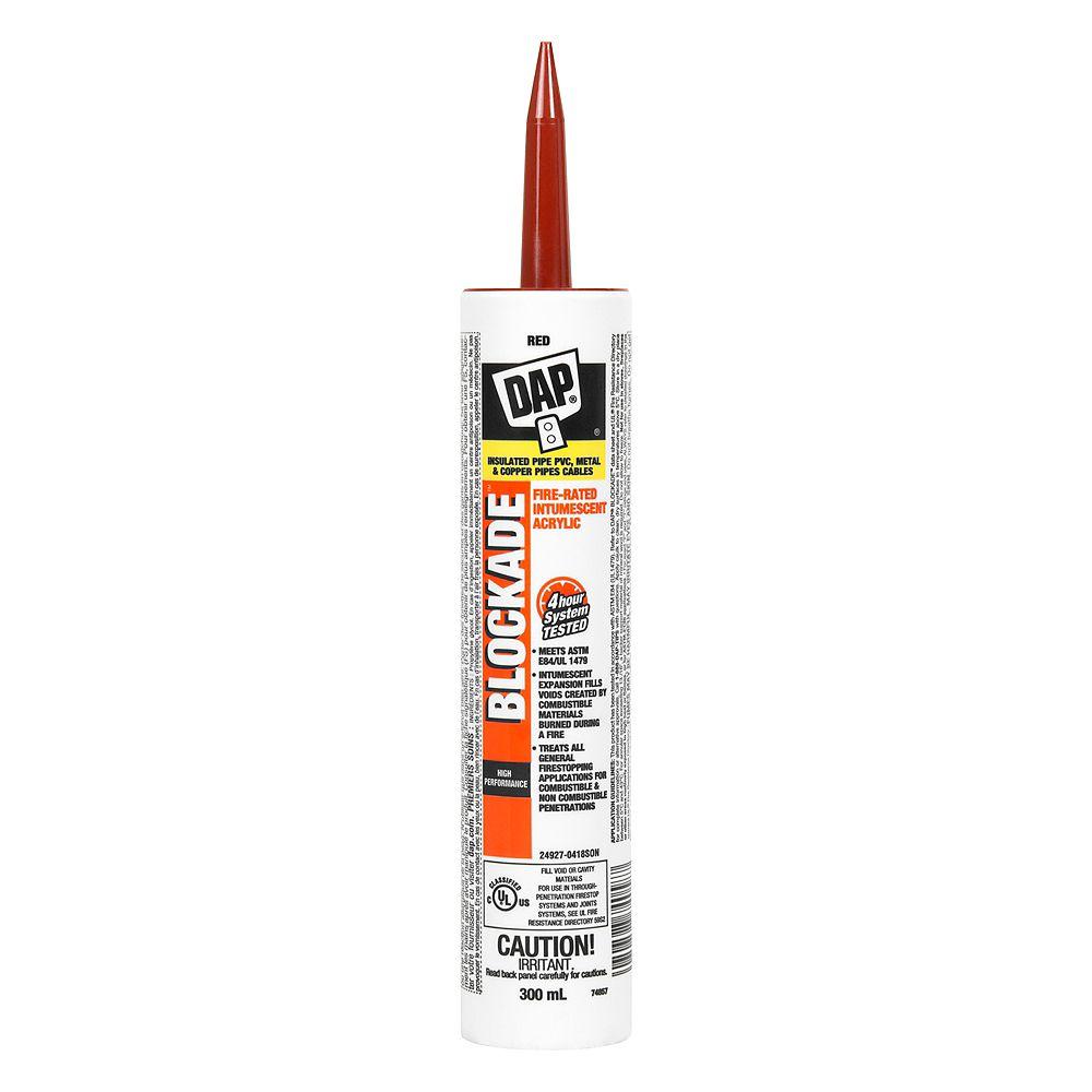 DAP BLOCKADE Fire-Rated Intumescent Acrylic Latex Sealant