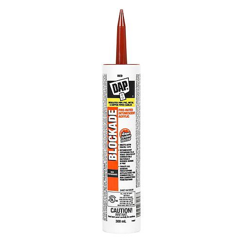 DAP BLOCKADE Fire-Rated Intumescent Acrylic Latex Sealant