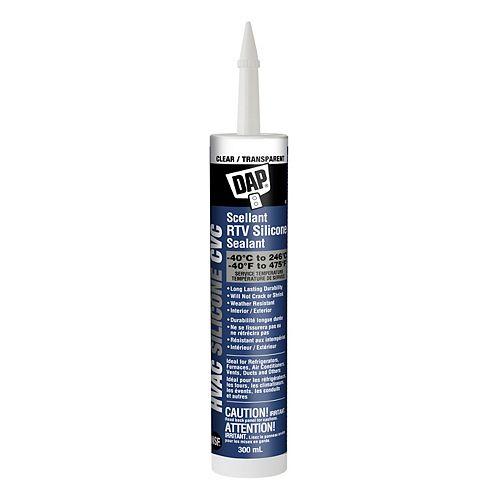 DAP HVAC Professional 100% RTV Silicone Sealant Clear
