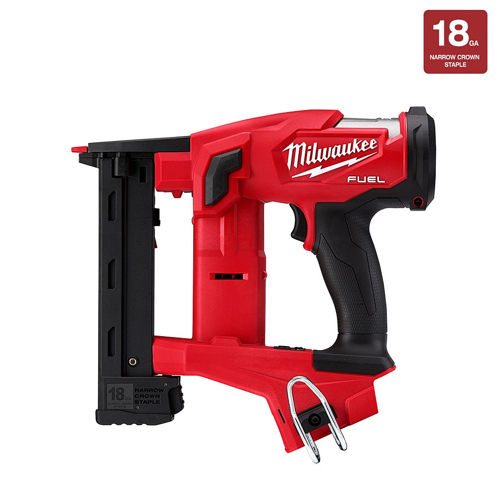 Milwaukee Tool M18 FUEL 18V Lithium-Ion Brushless Cordless 18-Gauge 1/4-inch Narrow Crown Stapler (Tool Only)