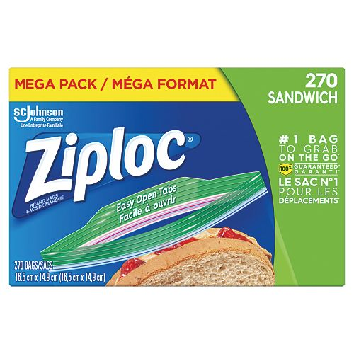 Ziploc bags Sandwich Mega 270ct