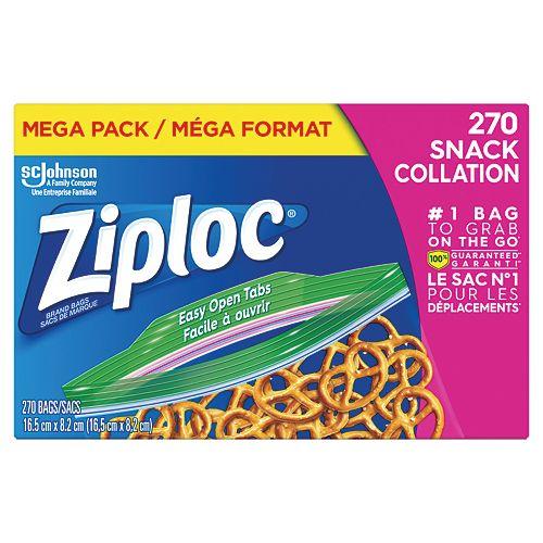 Ziploc bags Snack Mega 270ct