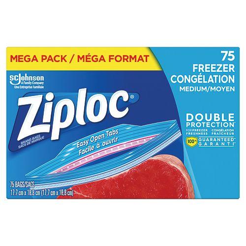 Ziploc bags Freezer Med Mega 75ct