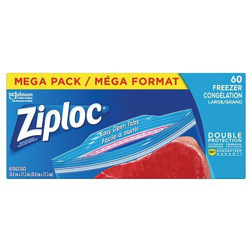 Ziploc bags Freezer Large Mega 60ct