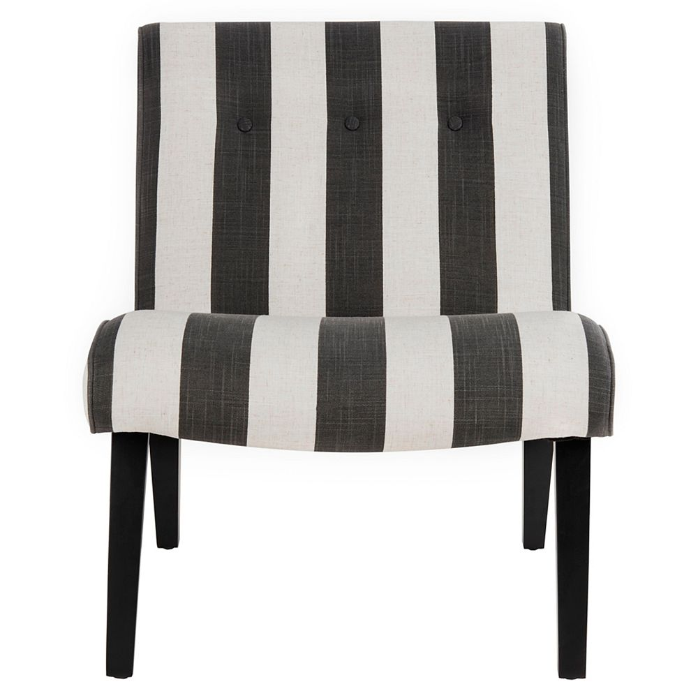 Safavieh Mandell Chaise d'Appoint en Noir / Blanc