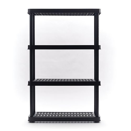 54-inch H x 36-inch W x 14-inch D 4-TIer Shelf in Black