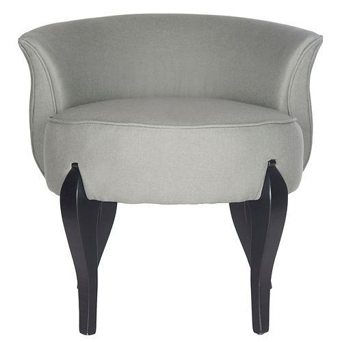 Mora Linen Vanity Chair in Sea Mist/Black