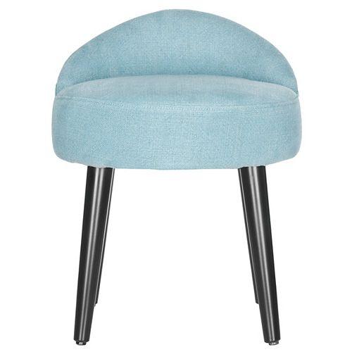 Brinda Linen Vanity Chair in Blue/Black
