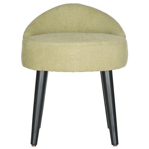 Brinda Linen Vanity Chair in Green/Black