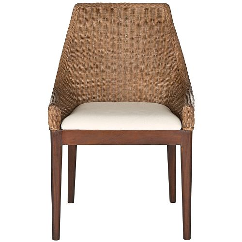 Franco Cotton Side Chair in Brown