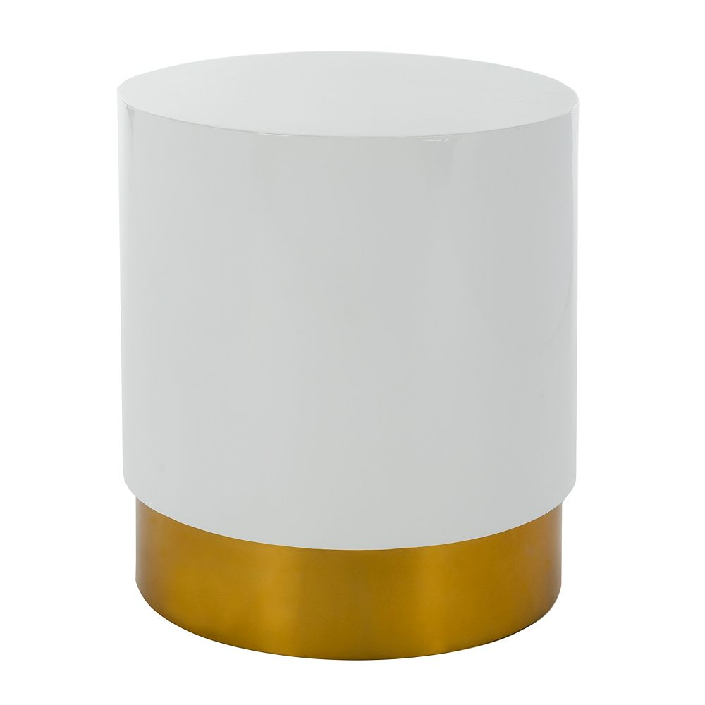 Safavieh Angelo Table d'Appoint en Blanc / Or