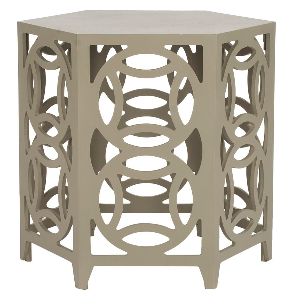 Safavieh Natanya Table d'Appoint en Perle Taupe
