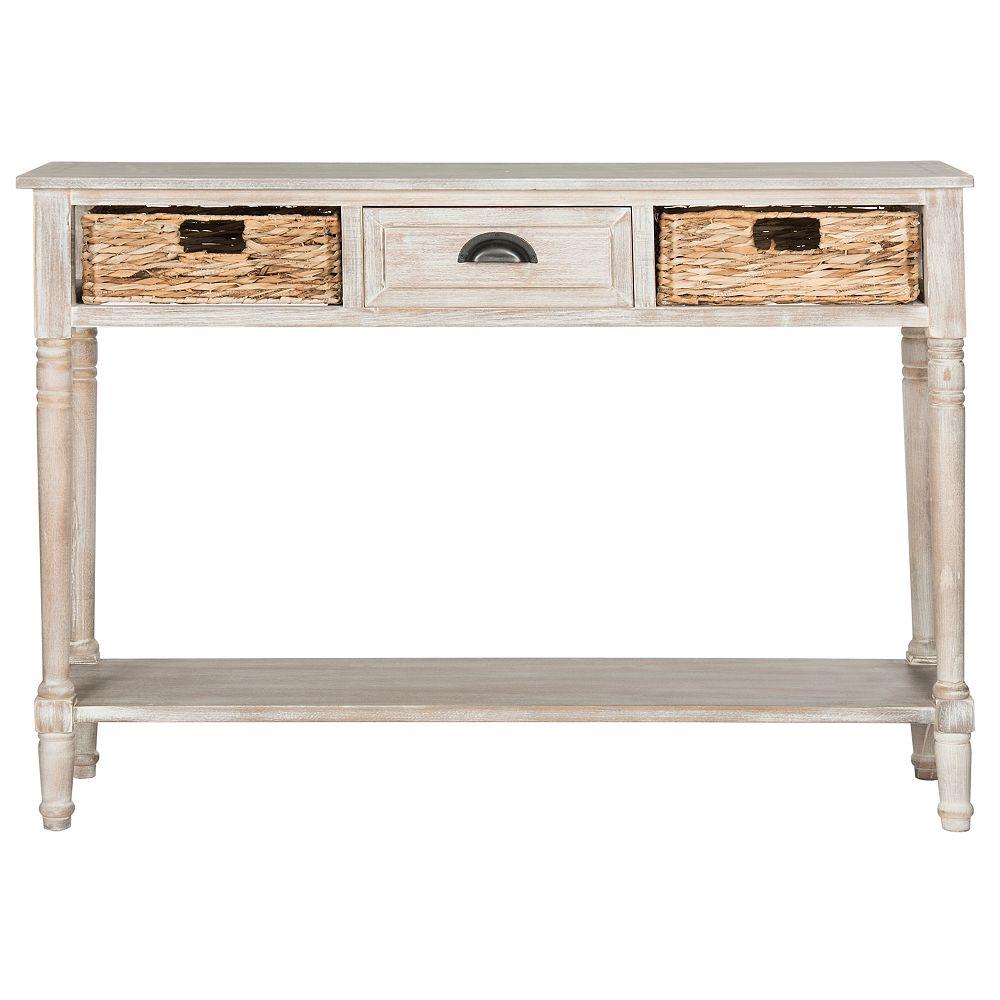 Safavieh Table Console Christa en Blanc Cru