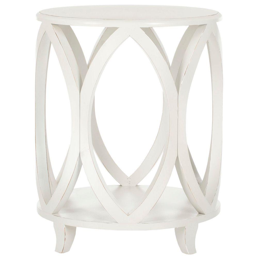 Safavieh Janika Table Accent en Blanc Ombragé