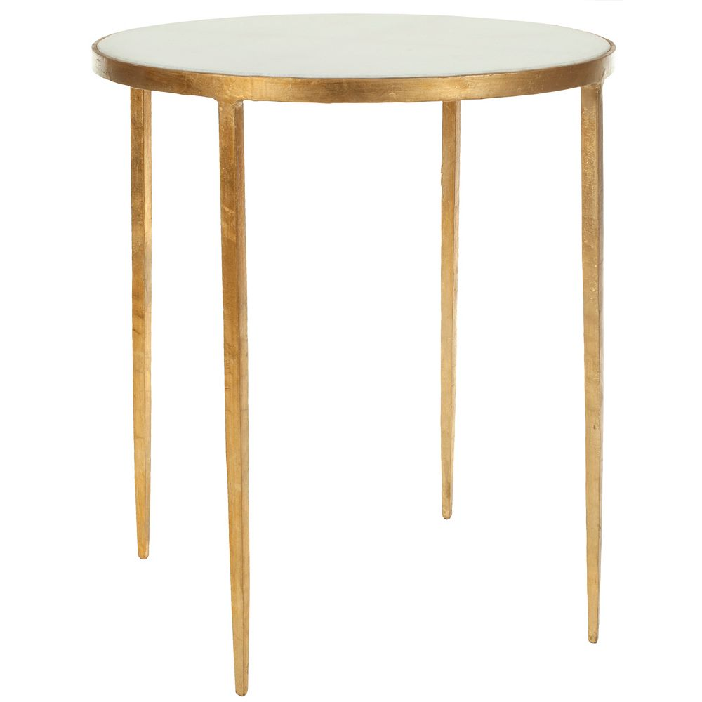 Safavieh Tracey Table d'Appoint en Blanc / Or