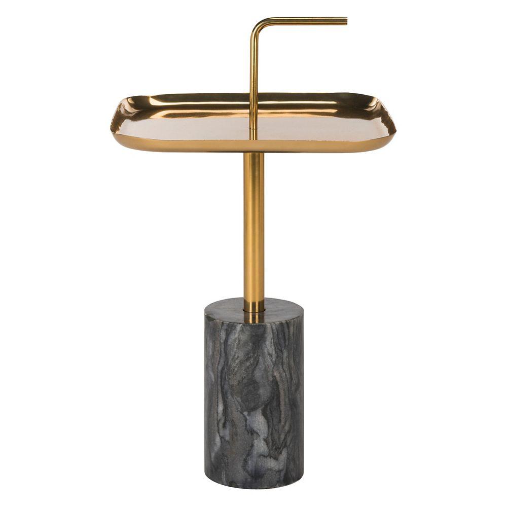 Safavieh Artemis Table d'Appoint en Laiton / Marbre