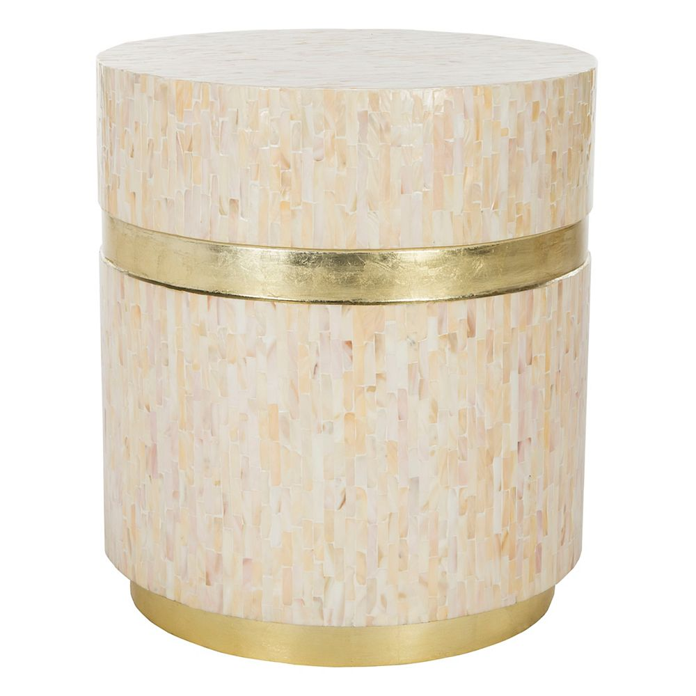 Safavieh Table d'Appoint Perla Champagne / Or Rose