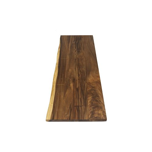 Hardwood Reflections 50 inch Wide Plank Wood Countertop with Live Edge in Acacia