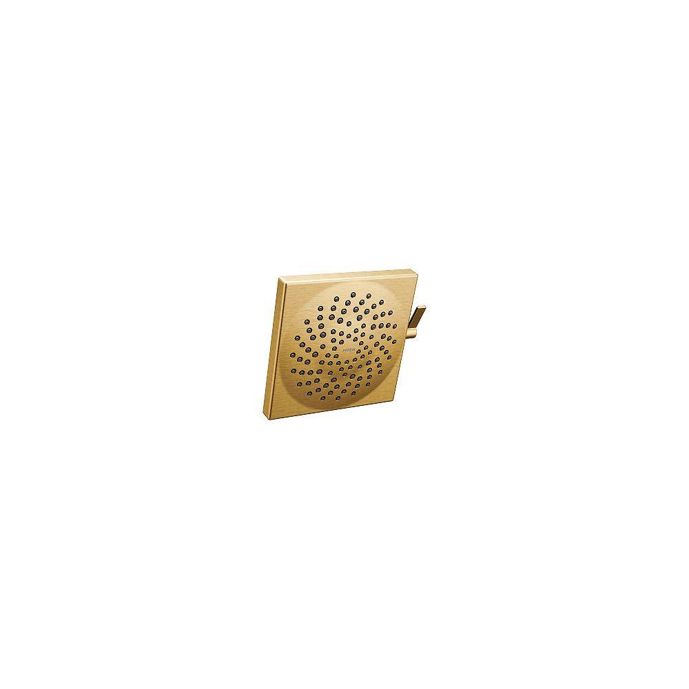 MOEN Pomme de douche carrée Velocity 2 jets de 8,5 pouces en or brossé avec pomme de douche de 8,5 pouces