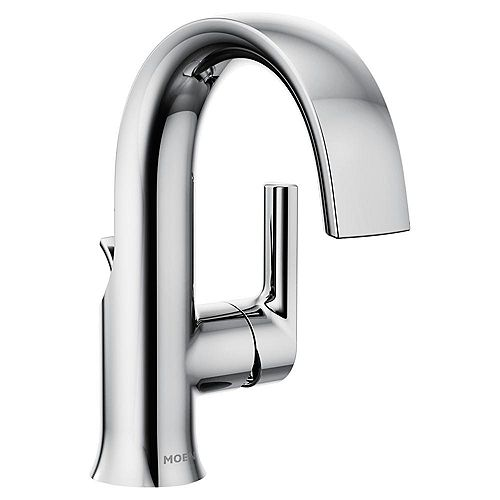 Doux Single Hole 1-Handle Bathroom Faucet in Chrome