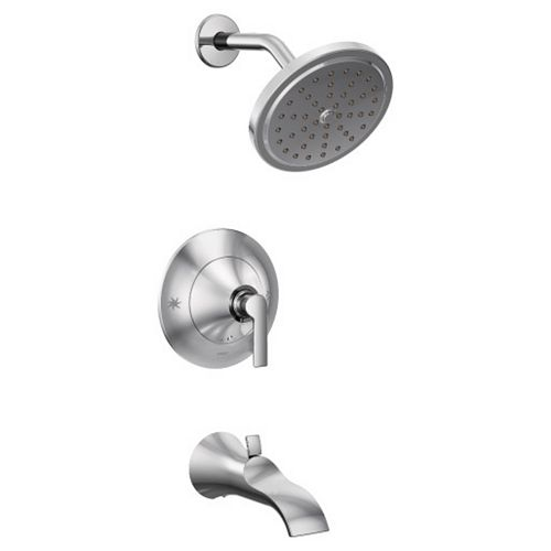 Doux Posi-Temp 1-Handle Tub and Shower Faucet Trim Kit in Chrome (Valve Not Included)