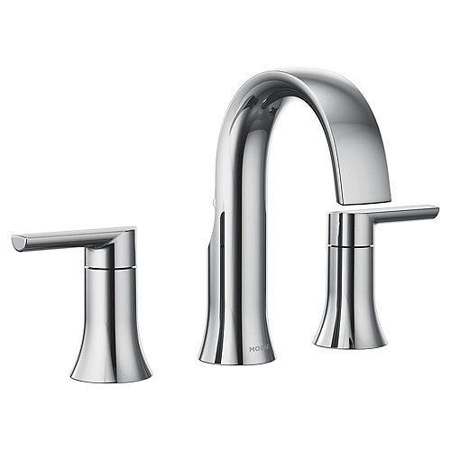 Doux 8-inch Widespread 2-Handle Bathroom Faucet Trim Kit in Chrome (Valve Not Included)