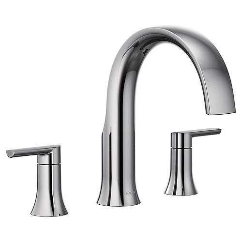 MOEN Doux 2H Roman Tub Faucet Trim Kit in Chrome (Valve Not Included)
