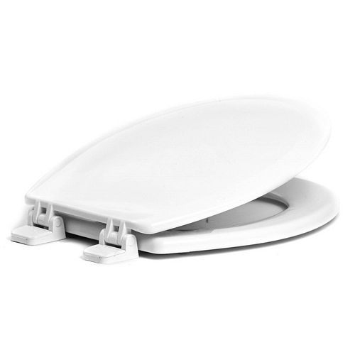 Centoco 750CT-001 Round Premium Toilet Seat with Concealed Trap Hardware, White