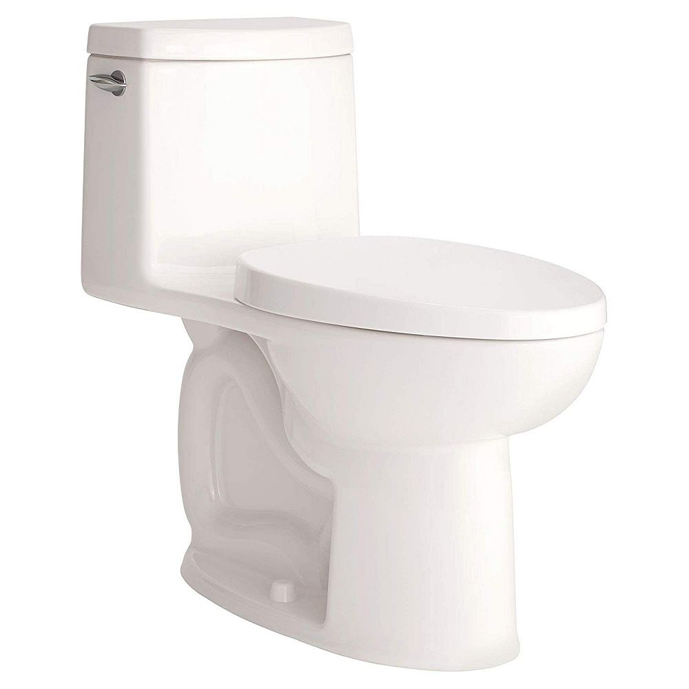 American Standard Loft 4.8 L Single Flush Right Height Elongated One-Piece Toilet in White