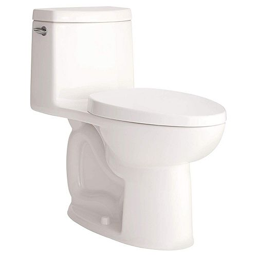 Loft 4.8 L Single Flush Right Height Elongated One-Piece Toilet in White