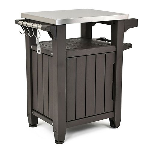 Unity BBQ & Storage Table with Stainless Steel Countertop