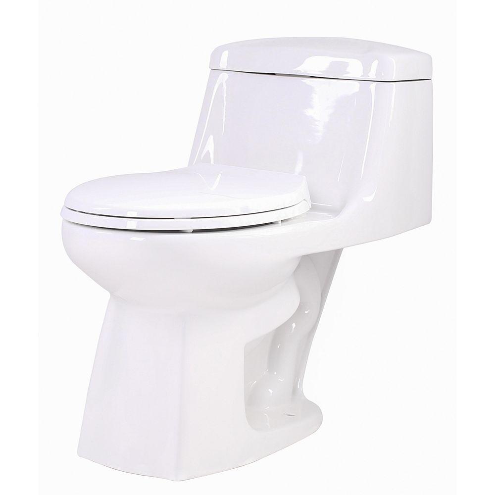 ANZZI Templar 1-Toilettes allongées de chasse simple en blanc de pièce 1.28 GPF
