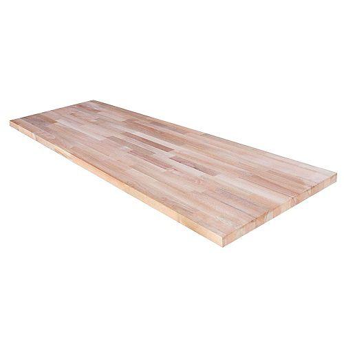 98 inch Butcher Block Countertop in Unfinished Beech
