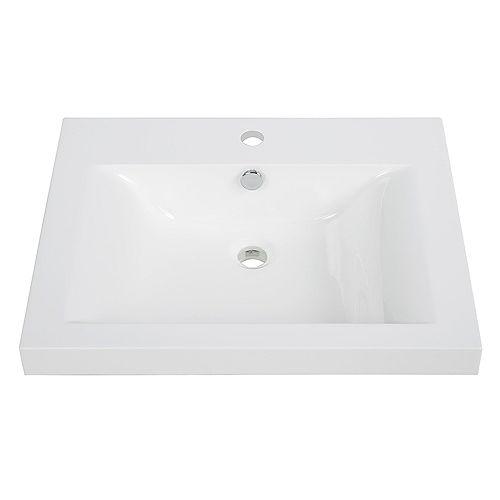 24 inch Solid Surface Resin Streamline K-098-SLSITRC-24 Vanity Top