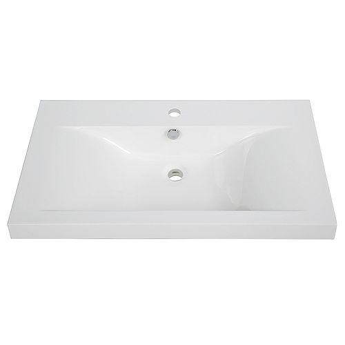 32 inch Solid Surface Resin Streamline K-098-SLSITRC-32 Vanity Top