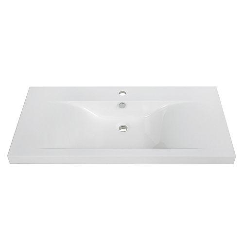 40 inch Solid Surface Resin Streamline K-098-SLSITRC-40 Vanity Top