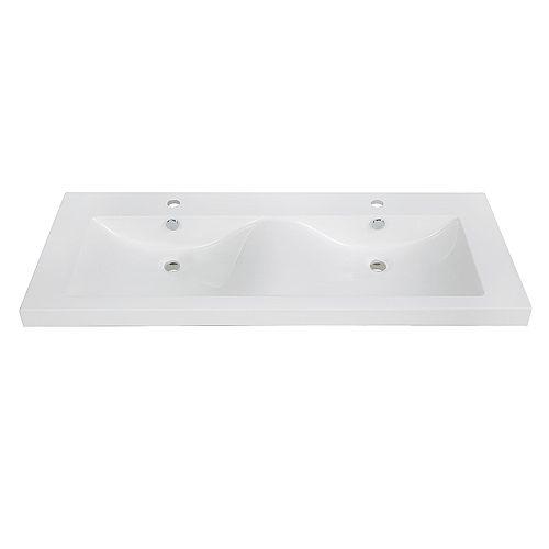 48 inch Solid Surface Resin Streamline K-098-SLSITRC-48 Vanity Top