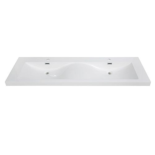 63 inch Solid Surface Resin Streamline K-098-SLSITRC-63 Vanity Top