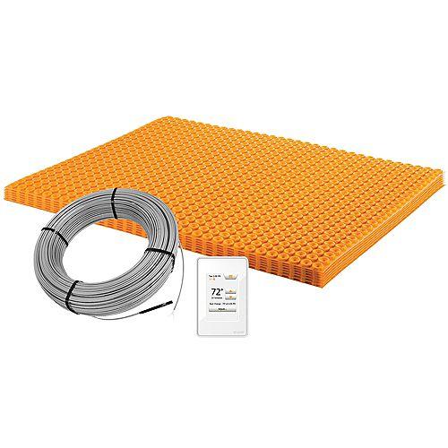 Ensemble de chauffage électrique de plancher Ditra-Heat 120V couvrant 3.9m2