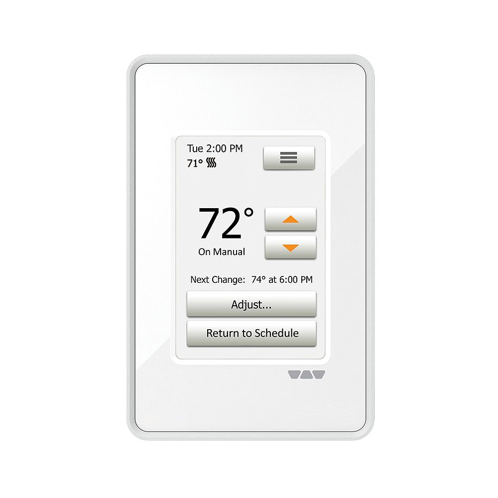Schluter Ditra Ditra-Heat 120/240 V Programmable Touchscreen Thermostat in Bright White