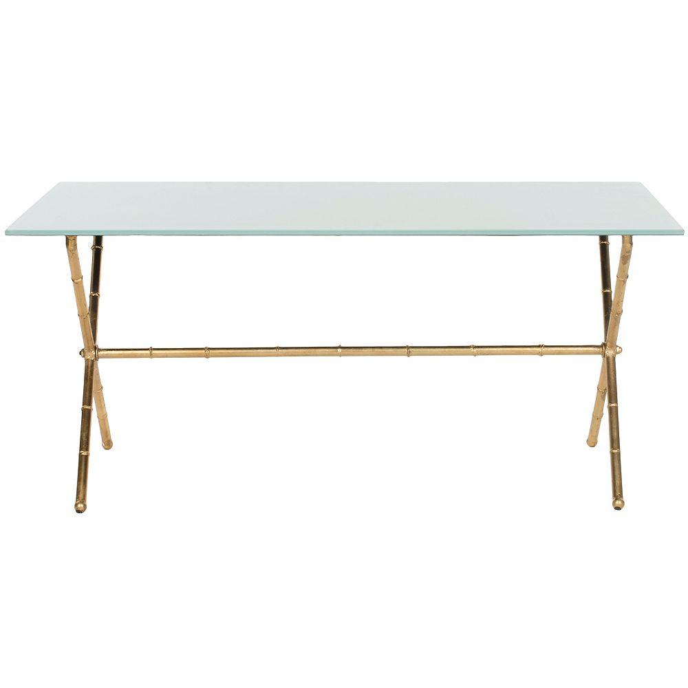 Safavieh Brogen Or et Une Table Basse Blanc