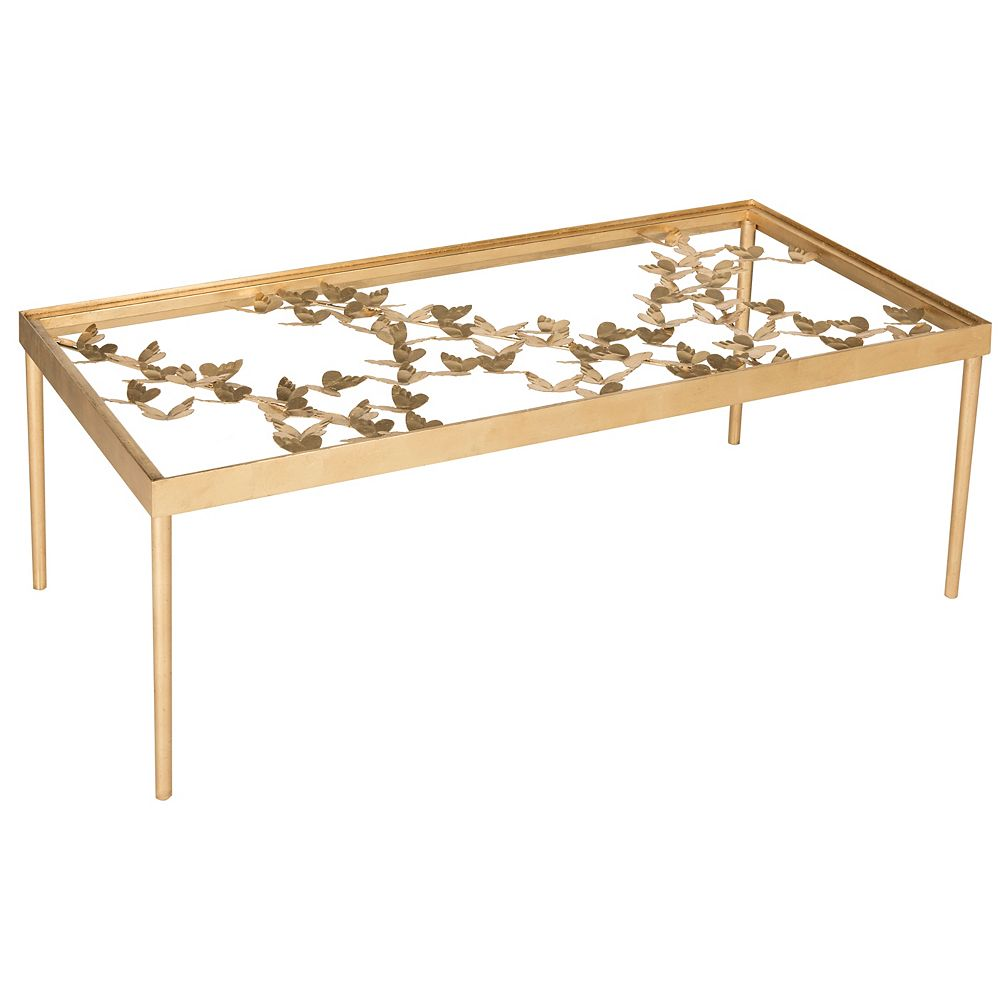 Safavieh Rosalia Verre / Papillon Or Antique Table Basse