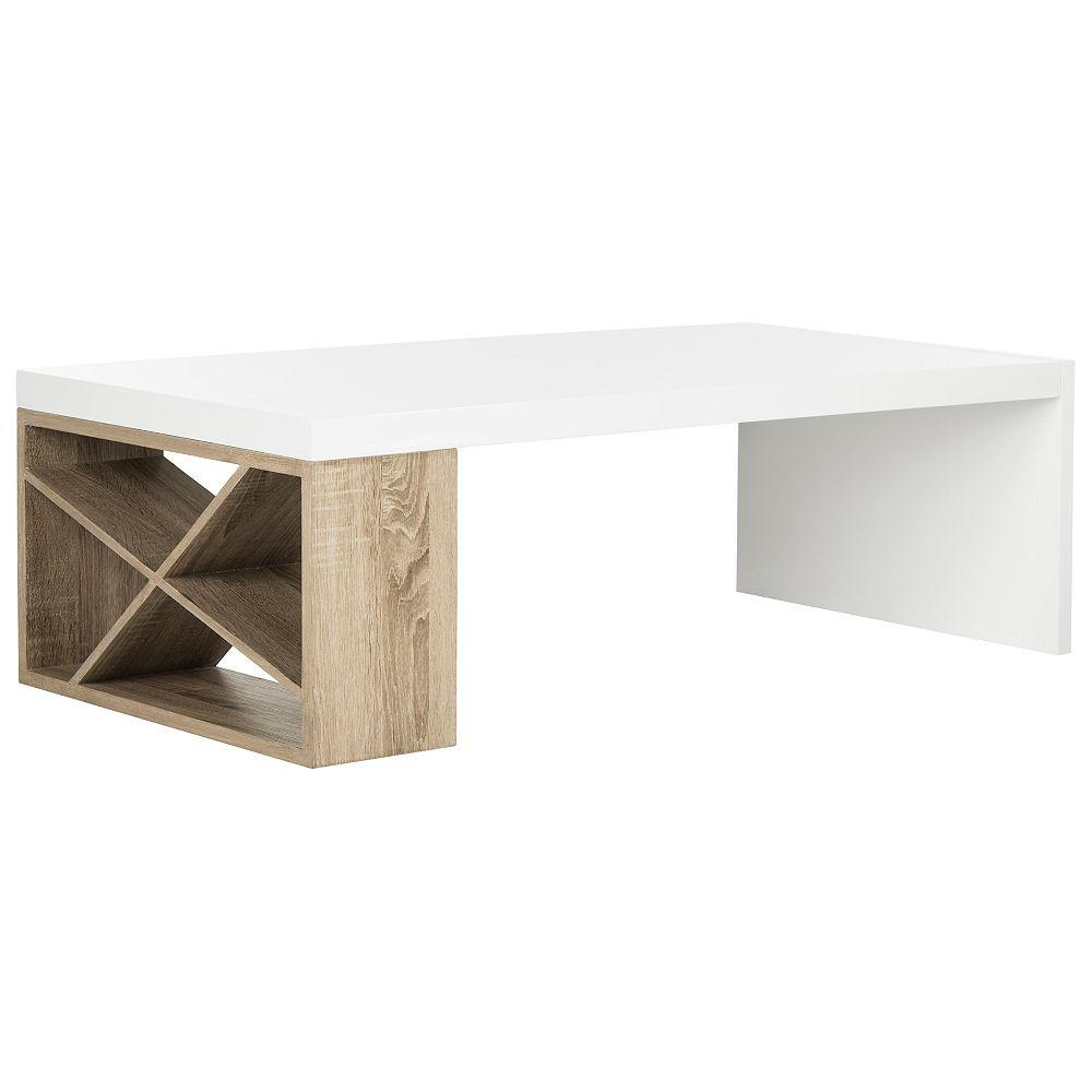 Safavieh Carlton Modern Scandinavian Side Storage Lacquer White Coffee Table The Home Depot Canada