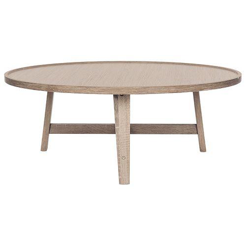 Malone Retro Mid Century Wood Light Gray Coffee Table