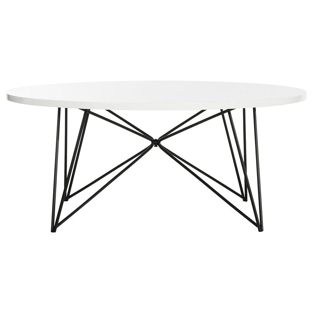Safavieh Maris Laque Blanc / Noir Table Basse