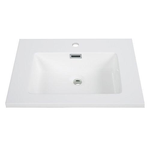24 inch Solid Surface Resin Streamline K-161-SLSITRC-24 Vanity Top